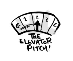 Drawing of an elevator dial