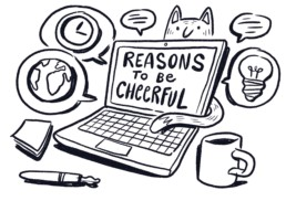 Reasons to be cheerful on a laptop